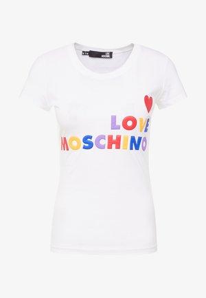 Camiseta estampada - opitcal white