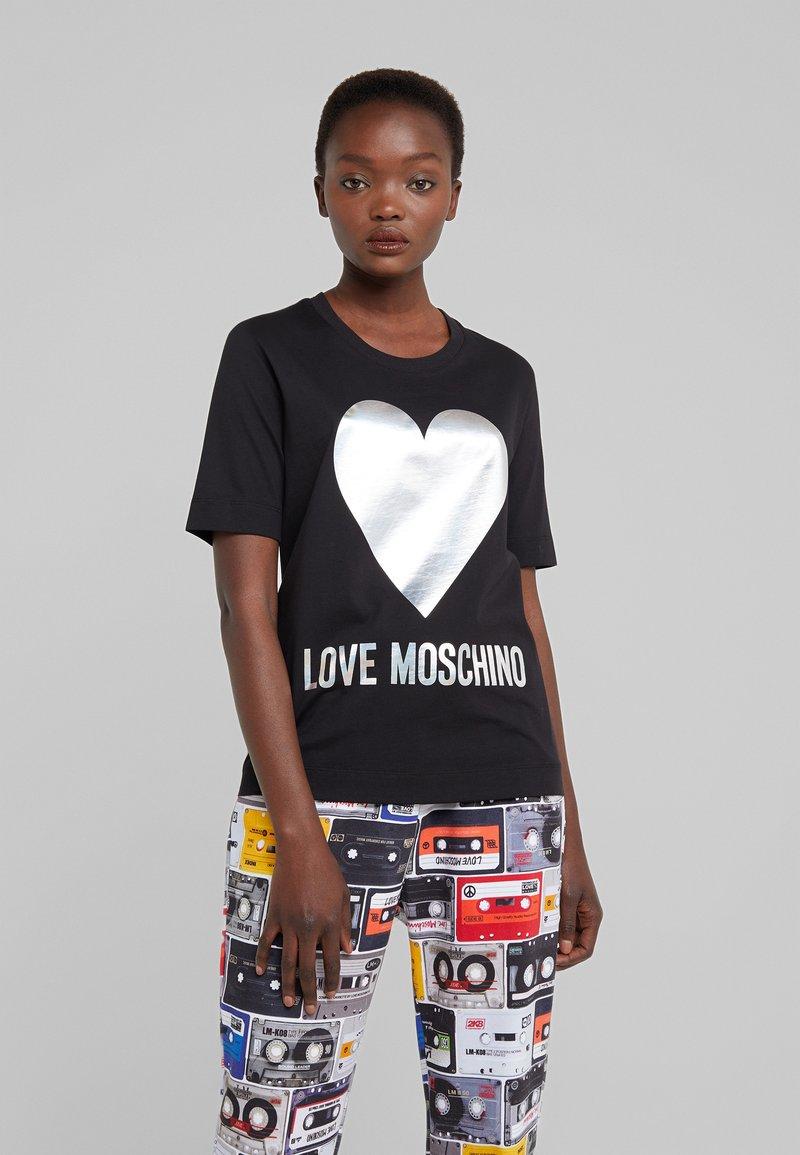 Love Moschino - Triko spotiskem - black