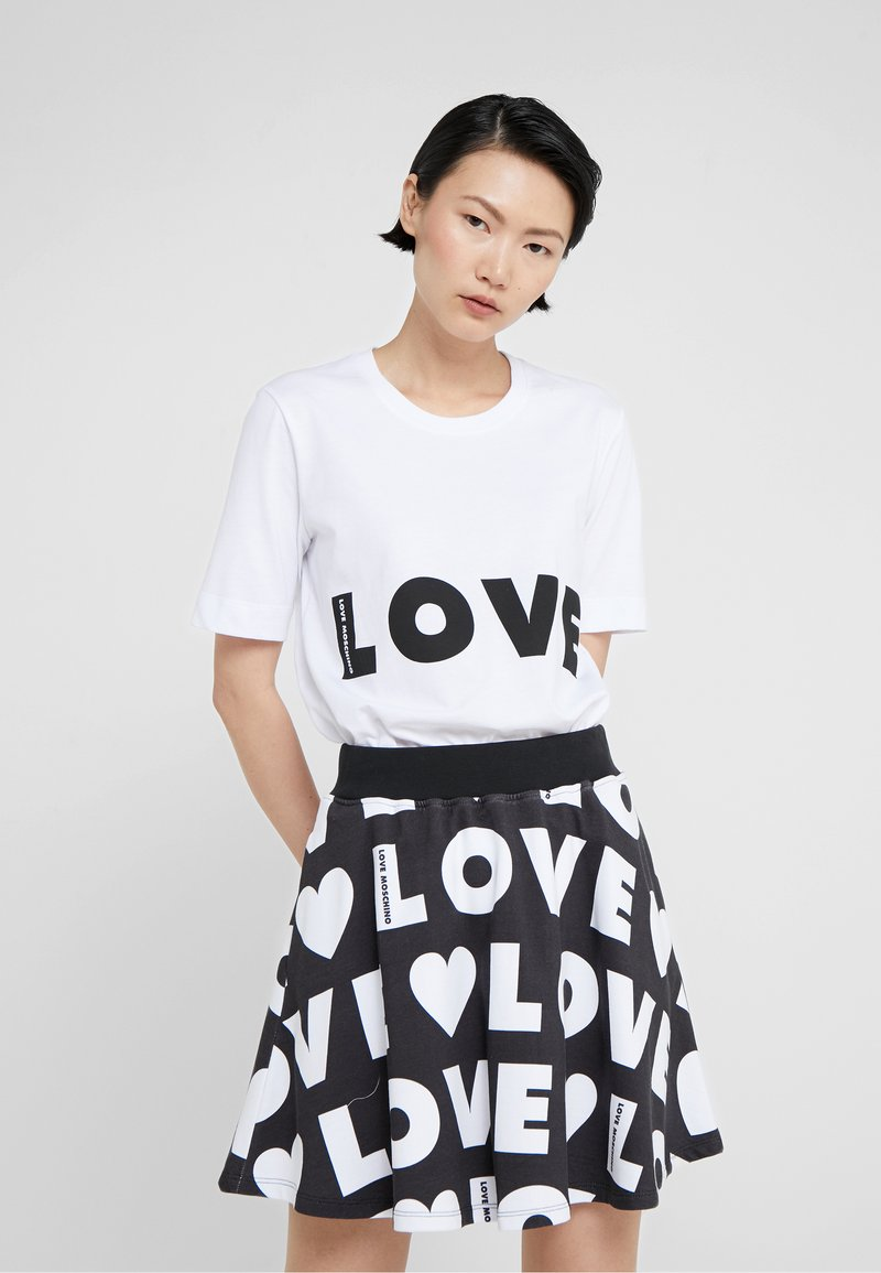 Love Moschino - Print T-shirt - opitcal white