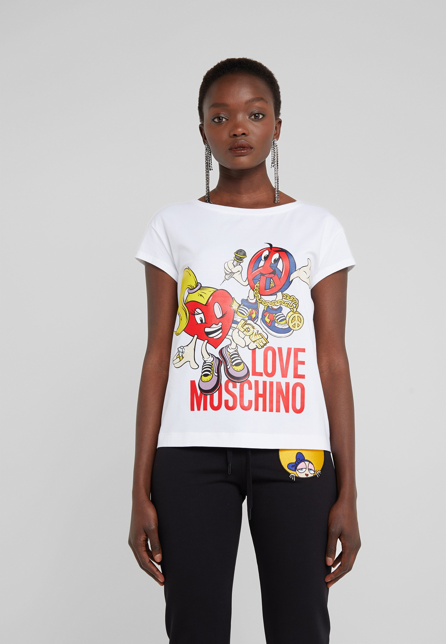 Love Moschino shirt Opitcal Con T Stampa White Ygb76fyv