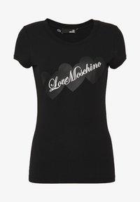 Love Moschino - T-shirt print - black - 4