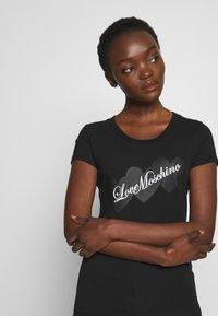 Love Moschino - T-shirt print - black - 3