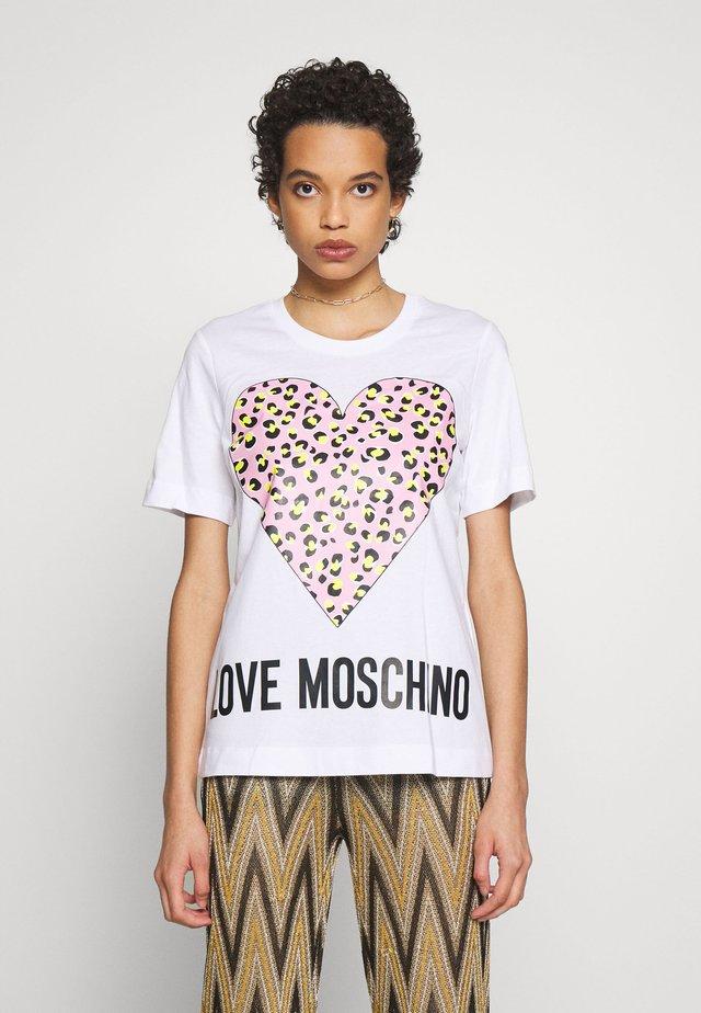 T-shirt med print - optical white