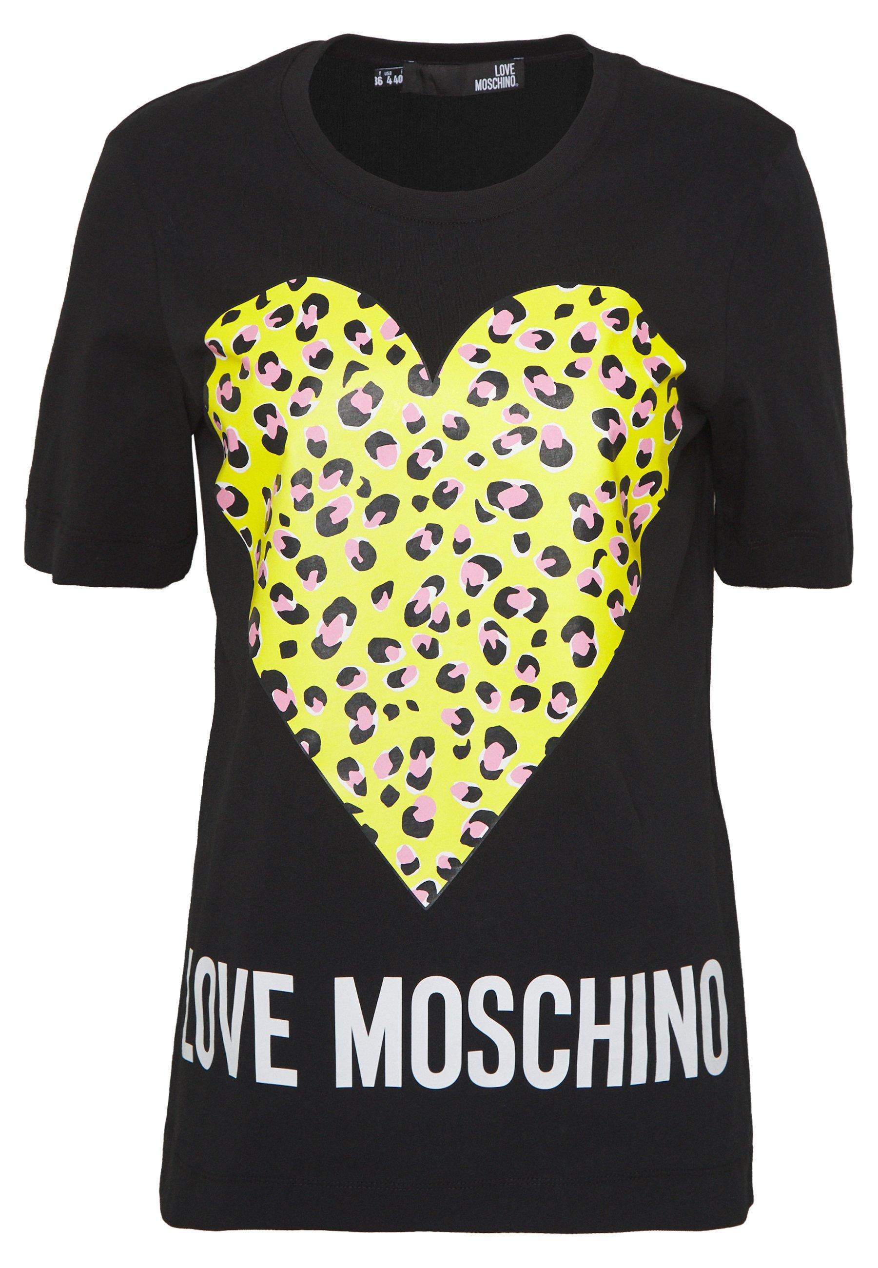 Love Moschino Print T-shirt - Black