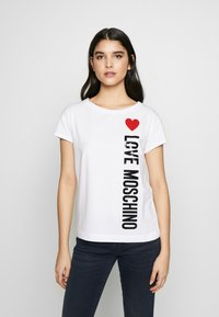 Love Moschino - T-shirt z nadrukiem - optical white - 0
