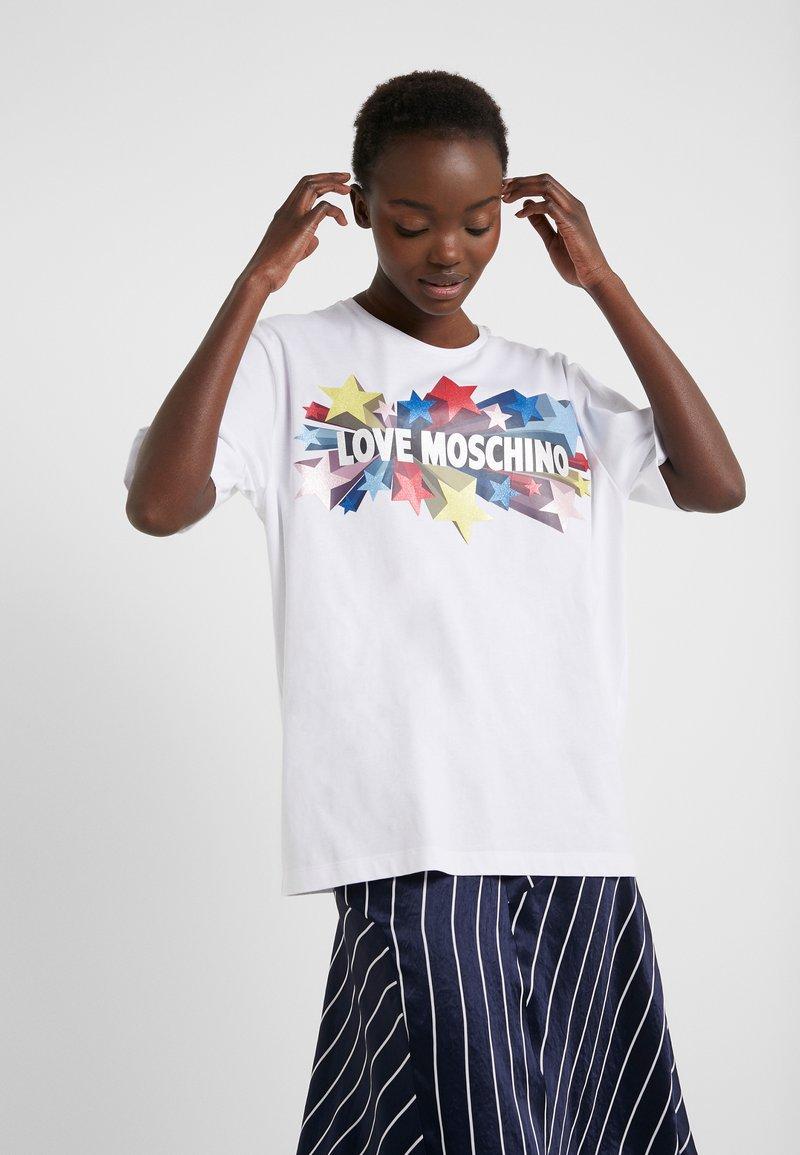 Love Moschino - T-shirt print - optical white