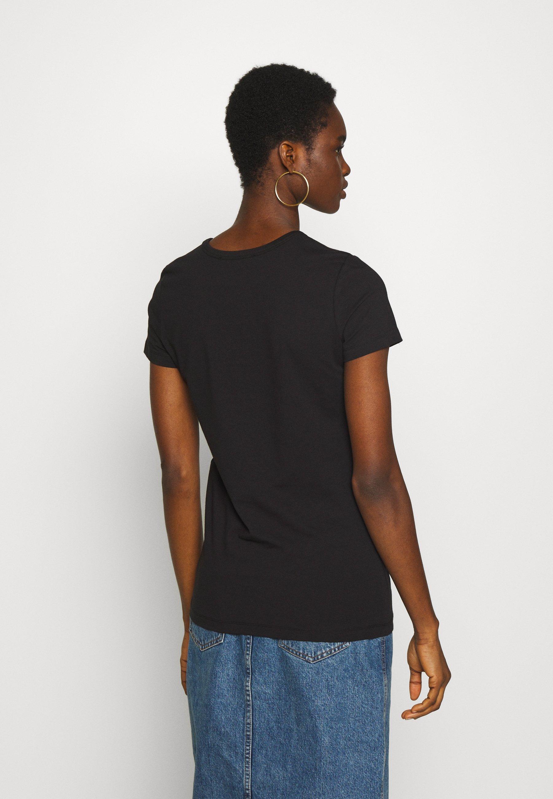 Love Moschino T-shirt z nadrukiem - black/red