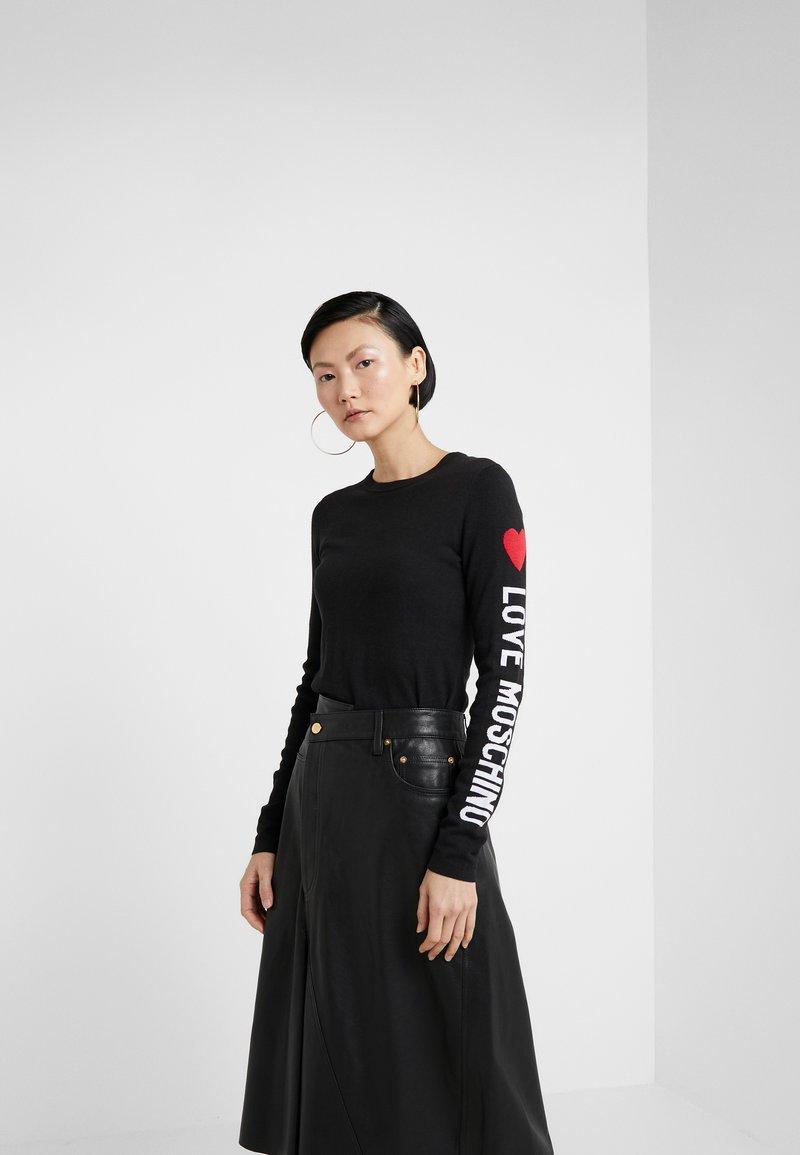 Love Moschino - Stickad tröja - black