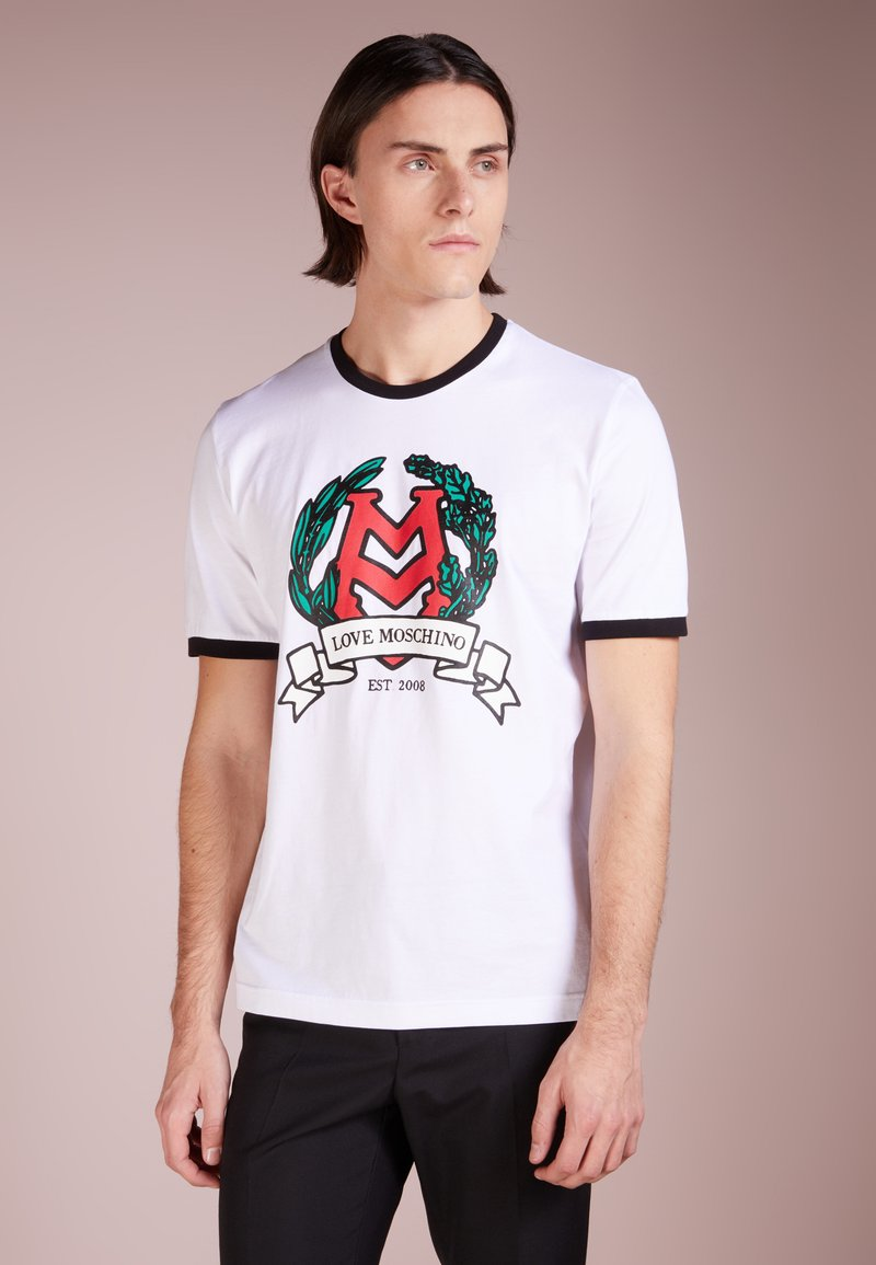 Love Moschino - Print T-shirt - optical white