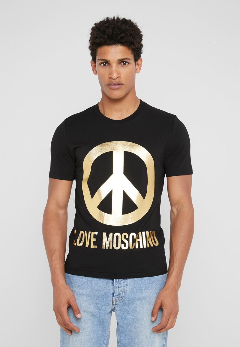 Love Moschino - PEACE SIGN  - T-Shirt print - black