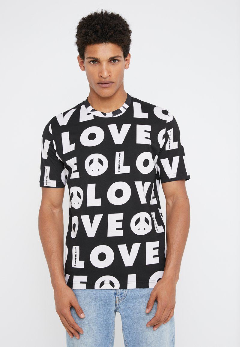 Love Moschino - ALLOVER PRINT  - T-Shirt print - black
