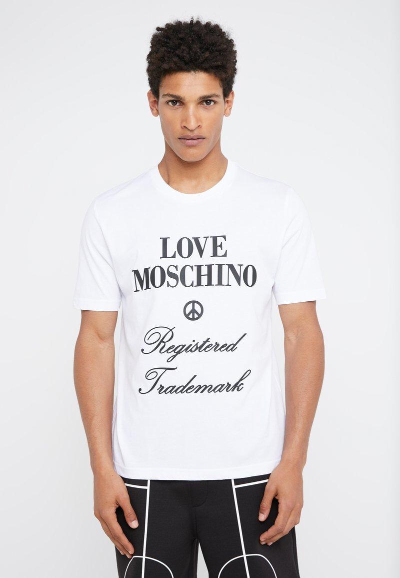 Love Moschino - Triko spotiskem - white