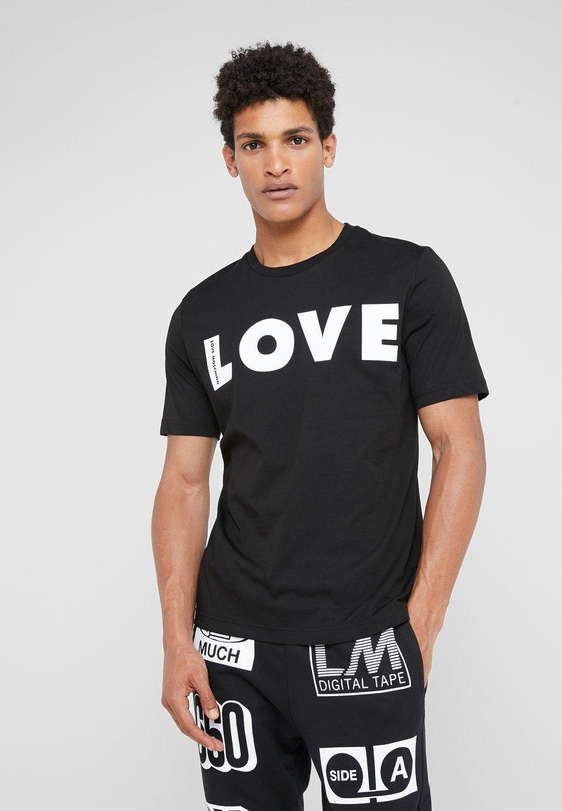 Love Moschino - LOVE  - T-Shirt print - black