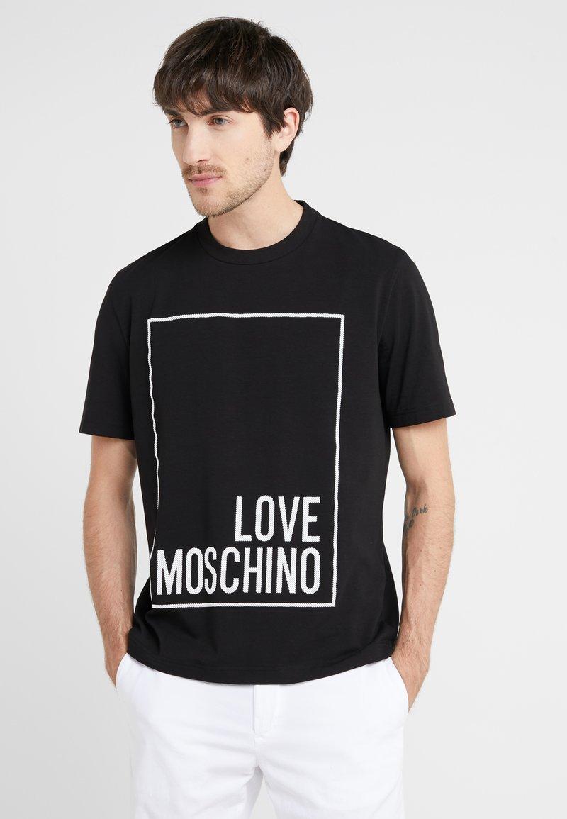 Love Moschino - T-shirt con stampa - black