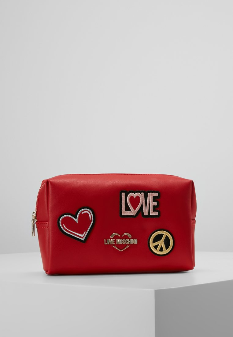 Love Moschino - COSMETIC POUCH - Wash bag - rosso