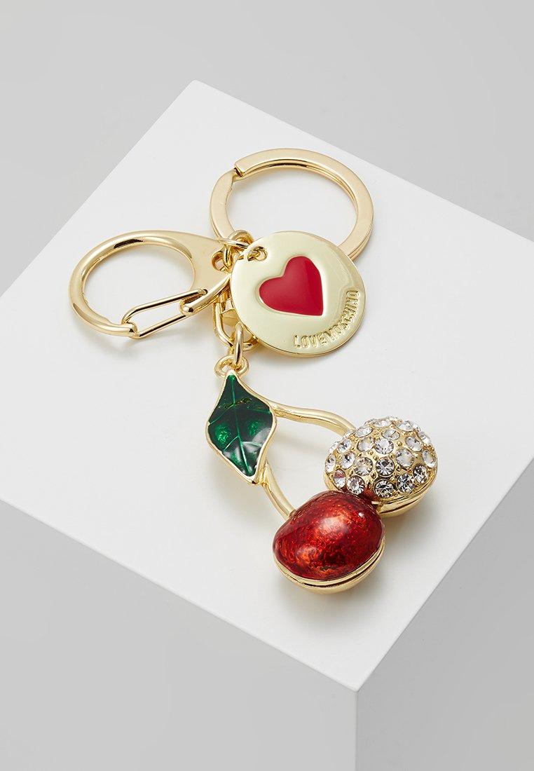 Love Moschino - CHERRY KEYCHAIN - Schlüsselanhänger - gold-coloured