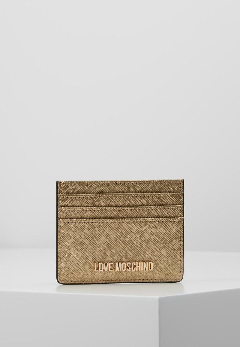 Love Moschino - Etui na wizytówki - gold