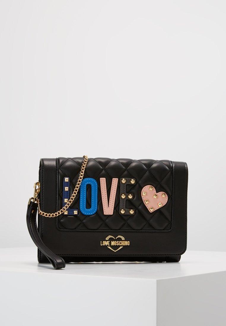 Love Moschino - LOVE LETTERS - Across body bag - black