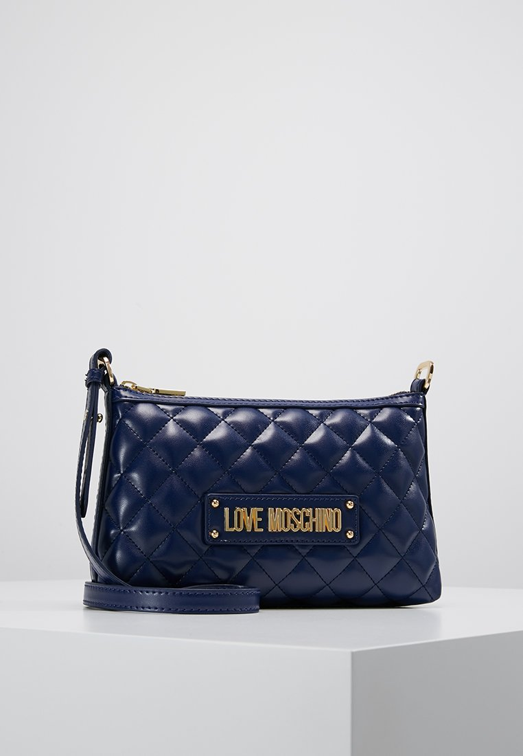 Love Moschino - QUILTED SOFT CROSSBODY - Axelremsväska - blue