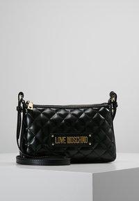 Love Moschino - QUILTED SOFT CROSSBODY - Across body bag - nero - 0