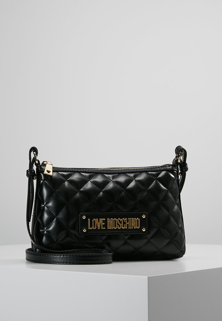 Love Moschino - QUILTED SOFT CROSSBODY - Across body bag - nero