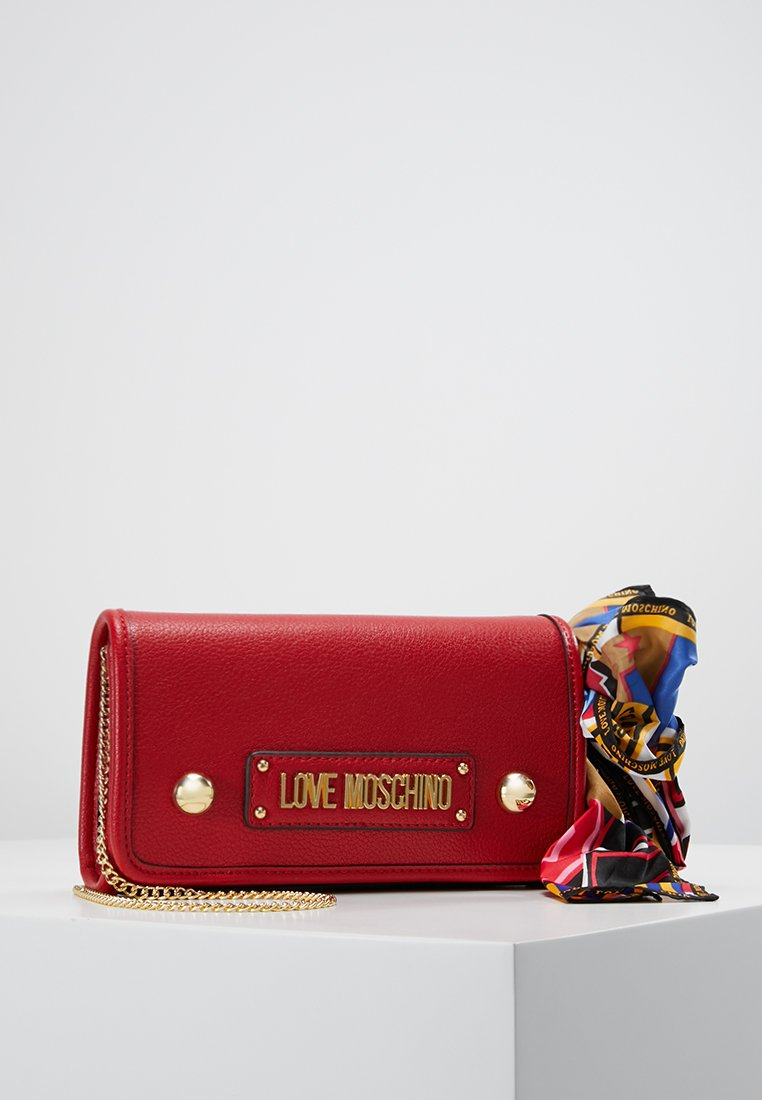 Love Moschino - BOW CLUTCH - Across body bag - rosso