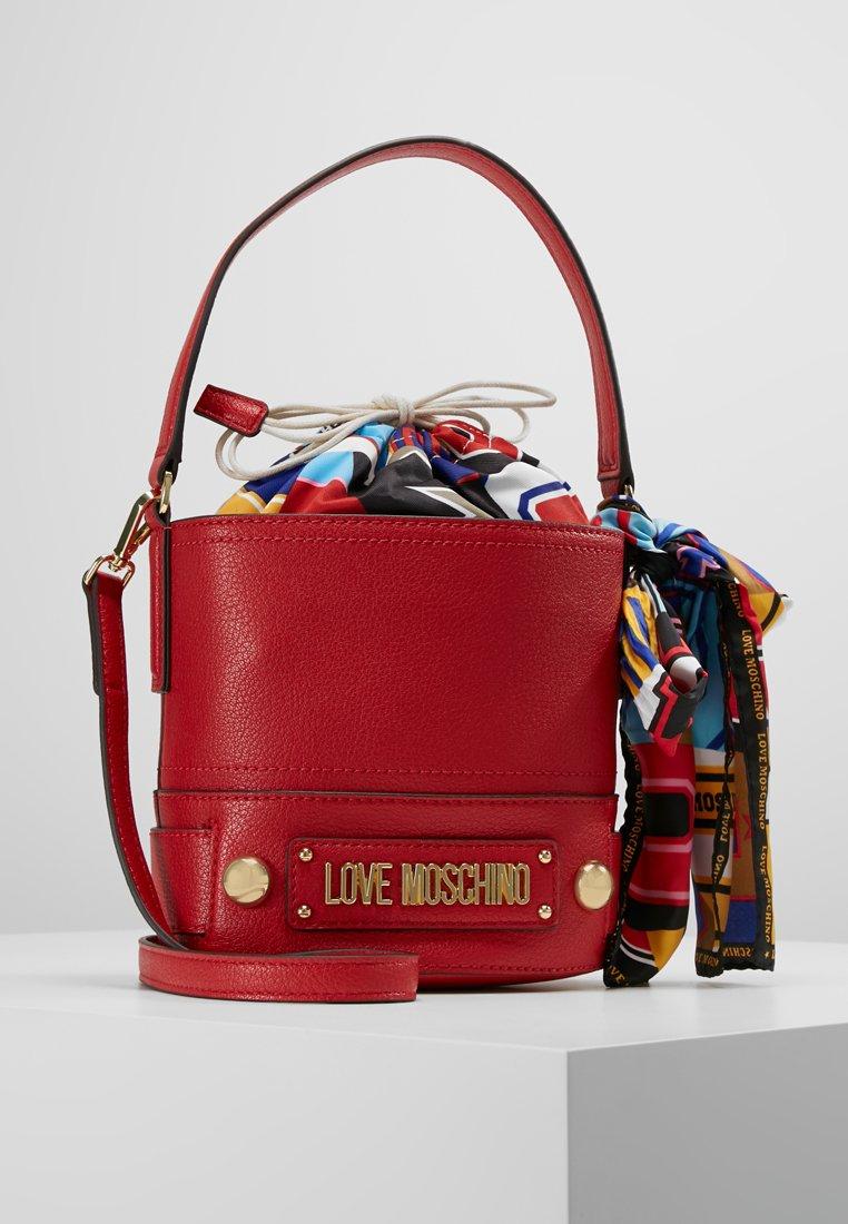 Love Moschino - BOW BUCKET BAG - Borsa a tracolla - rosso