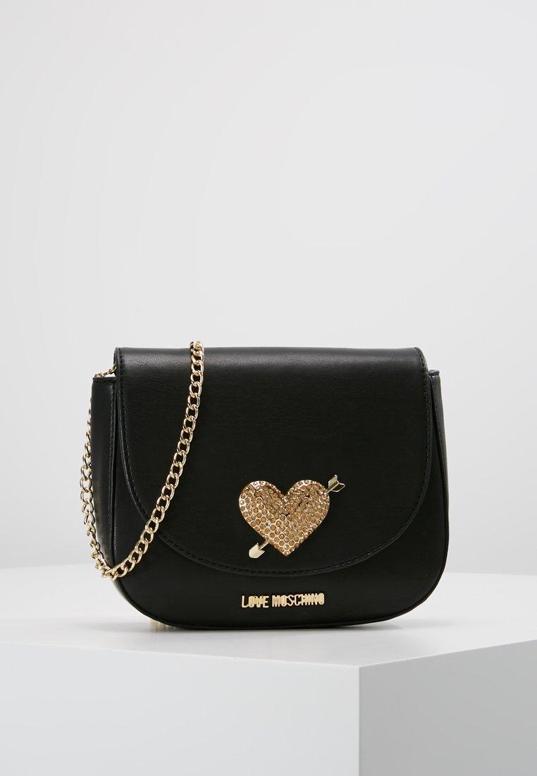 Love Moschino - STONES HEART - Sac bandoulière - nero