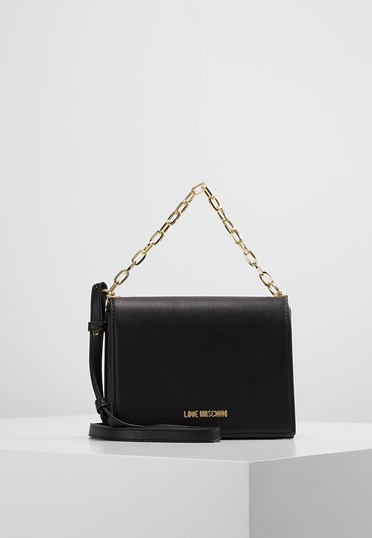 Love Moschino - CHAIN CROSSBODY - Handtasche - black