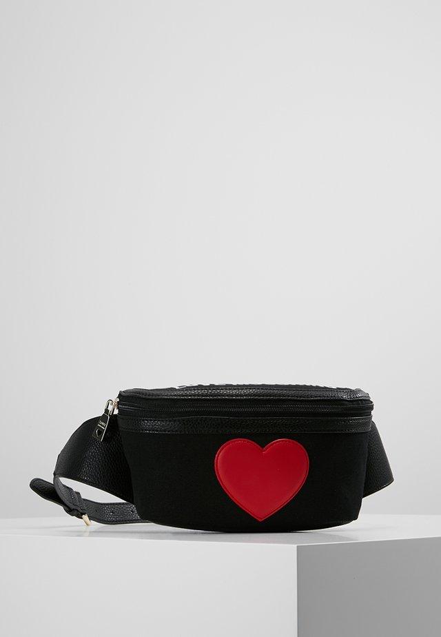 HEART BUMBAG - Gürteltasche - black