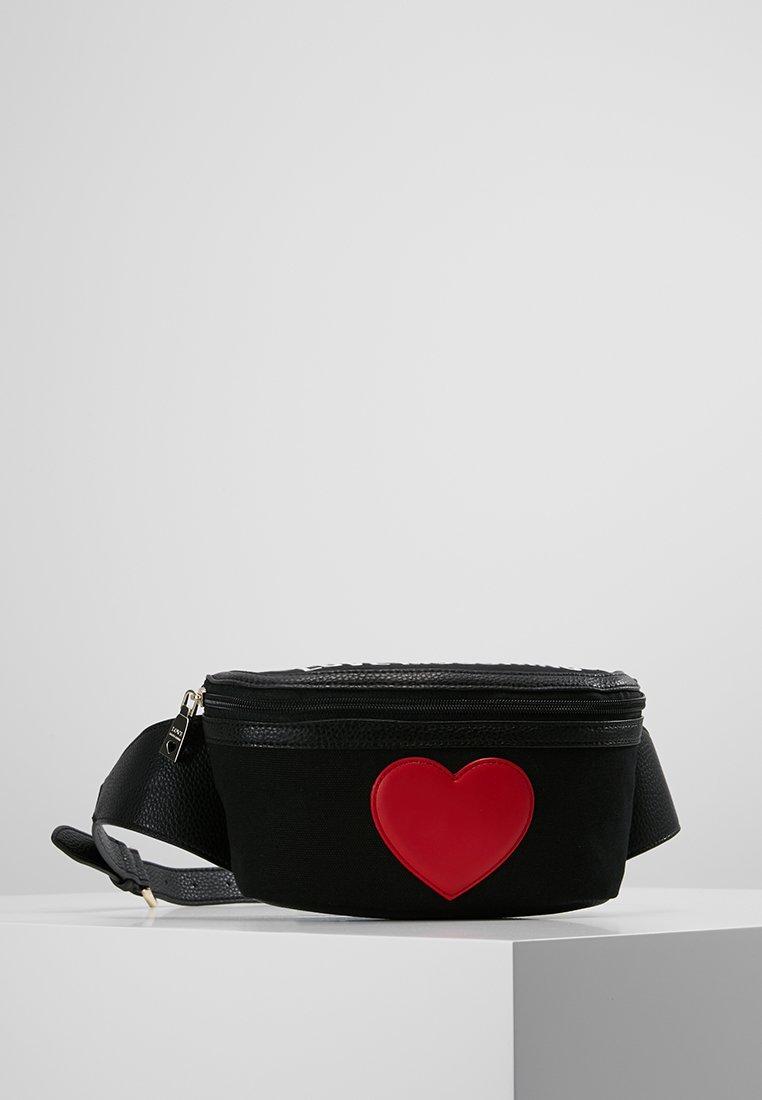 Love Moschino - HEART BUMBAG - Bæltetasker - black