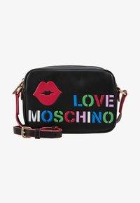 Love Moschino - CAMERA BAG - Taška spříčným popruhem - black - 5