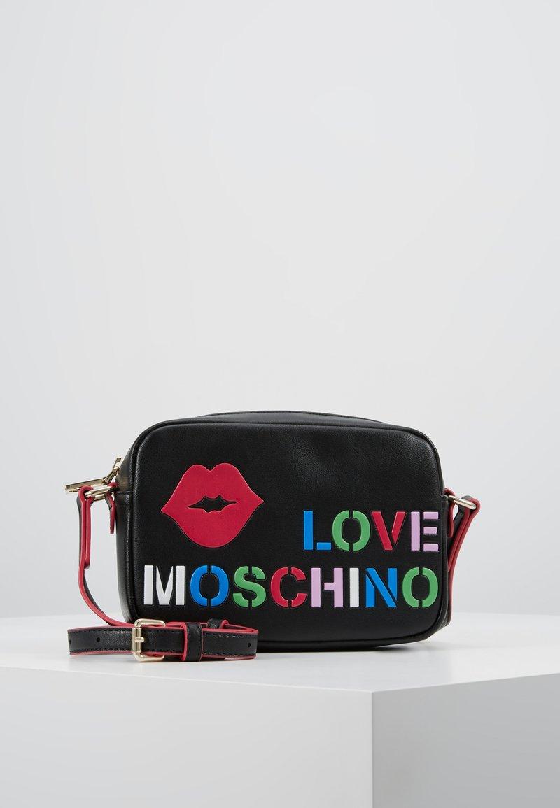 Love Moschino - CAMERA BAG - Taška spříčným popruhem - black