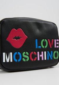 Love Moschino - CAMERA BAG - Taška spříčným popruhem - black - 6