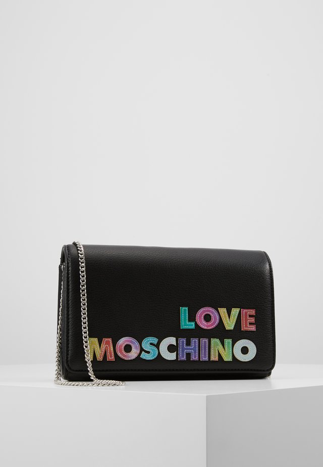 PLAIN CLUTCH - Schoudertas - black