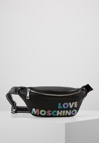Love Moschino - PLAIN BUMBAG - Heuptas - black - 0