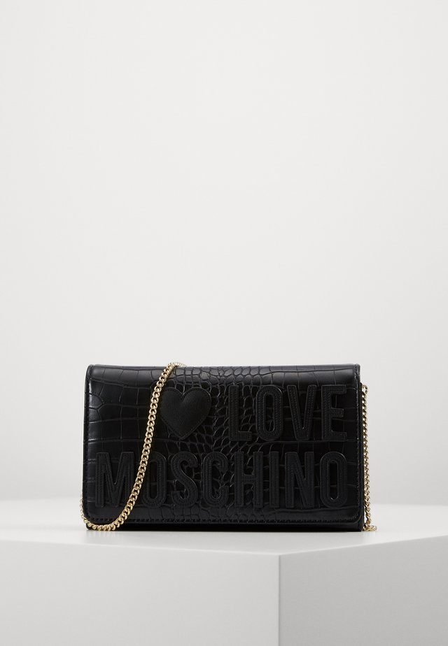 BORSA CROCO  - Schoudertas - black