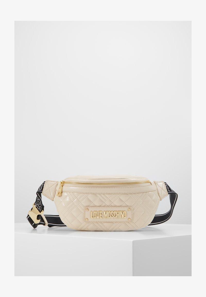 Love Moschino - BORSA QUILTED SCURO - Marsupio - ivory