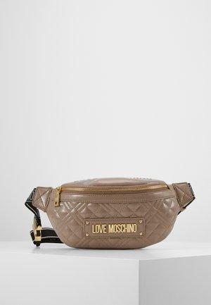 BORSA QUILTED SCURO - Bum bag - grigio