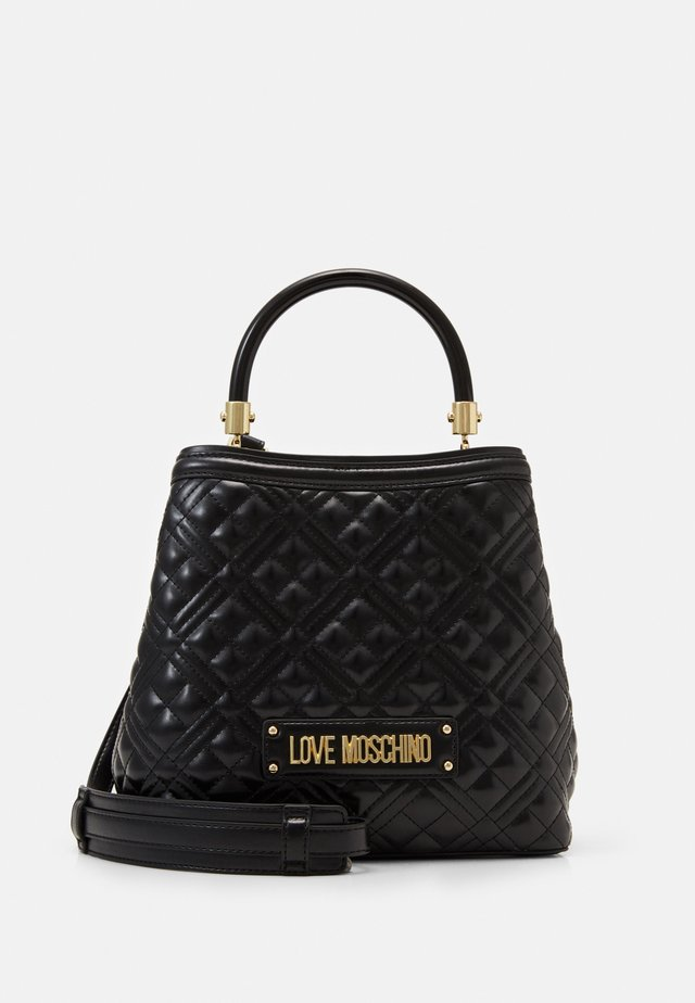 BORSA QUILTED SCURO - Kabelka - black