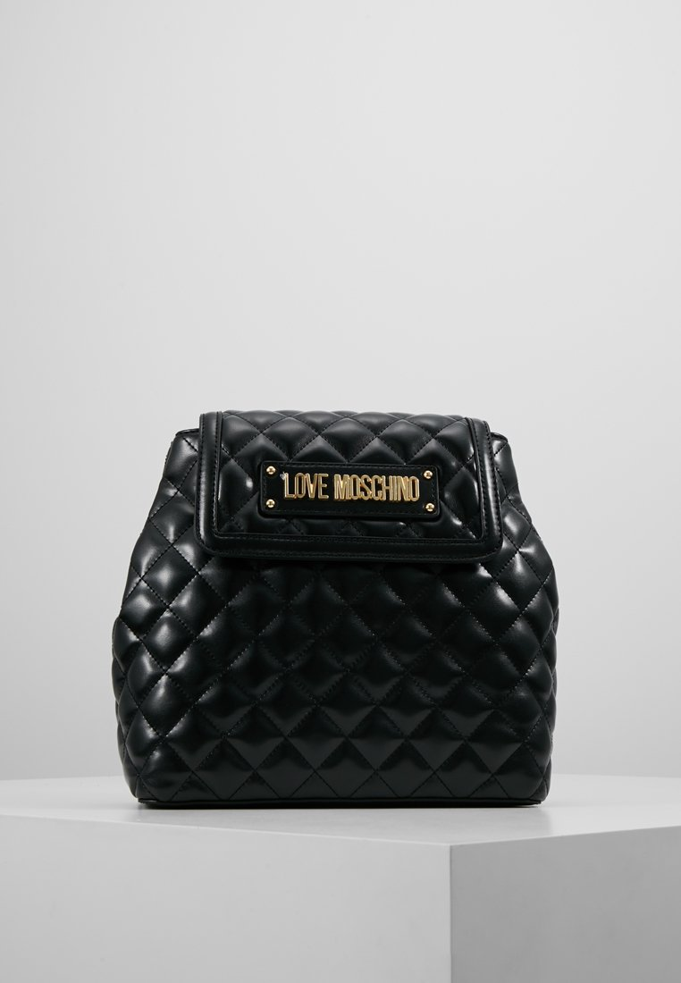 Love Moschino - QUILTED RING BACKPACK - Reppu - black