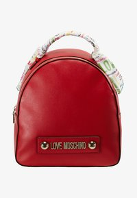 Love Moschino - SCARF BACKPACK - Sac à dos - red - 5