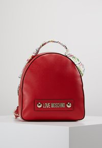Love Moschino - SCARF BACKPACK - Sac à dos - red - 0