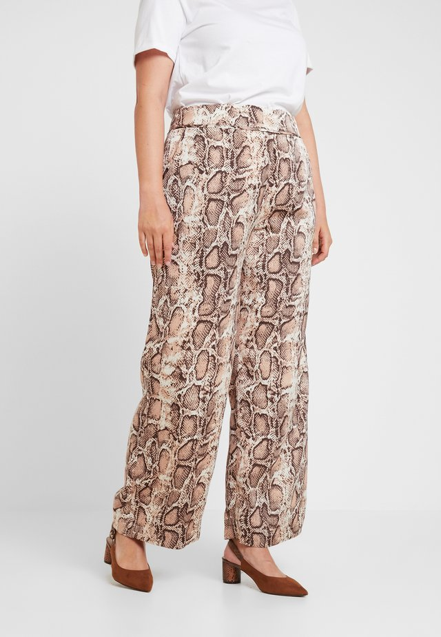 TROUSERS IN SNAKE PRINT - Kalhoty - multi-coloured