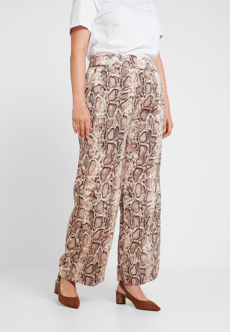 Lost Ink Plus - TROUSERS IN SNAKE PRINT - Stoffhose - multi-coloured