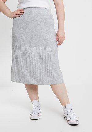 PLEATED SKIRT - Falda larga - grey