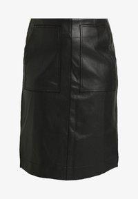 Lost Ink Plus - SKIRT WITH POCKETS - A-snit nederdel/ A-formede nederdele - black - 4
