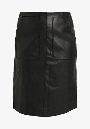 SKIRT WITH POCKETS - A-snit nederdel/ A-formede nederdele - black