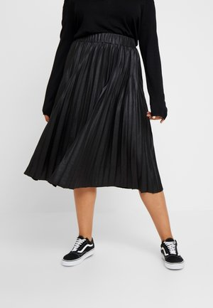 PLEATED SKIRT IN COATED - Gonna a campana - black
