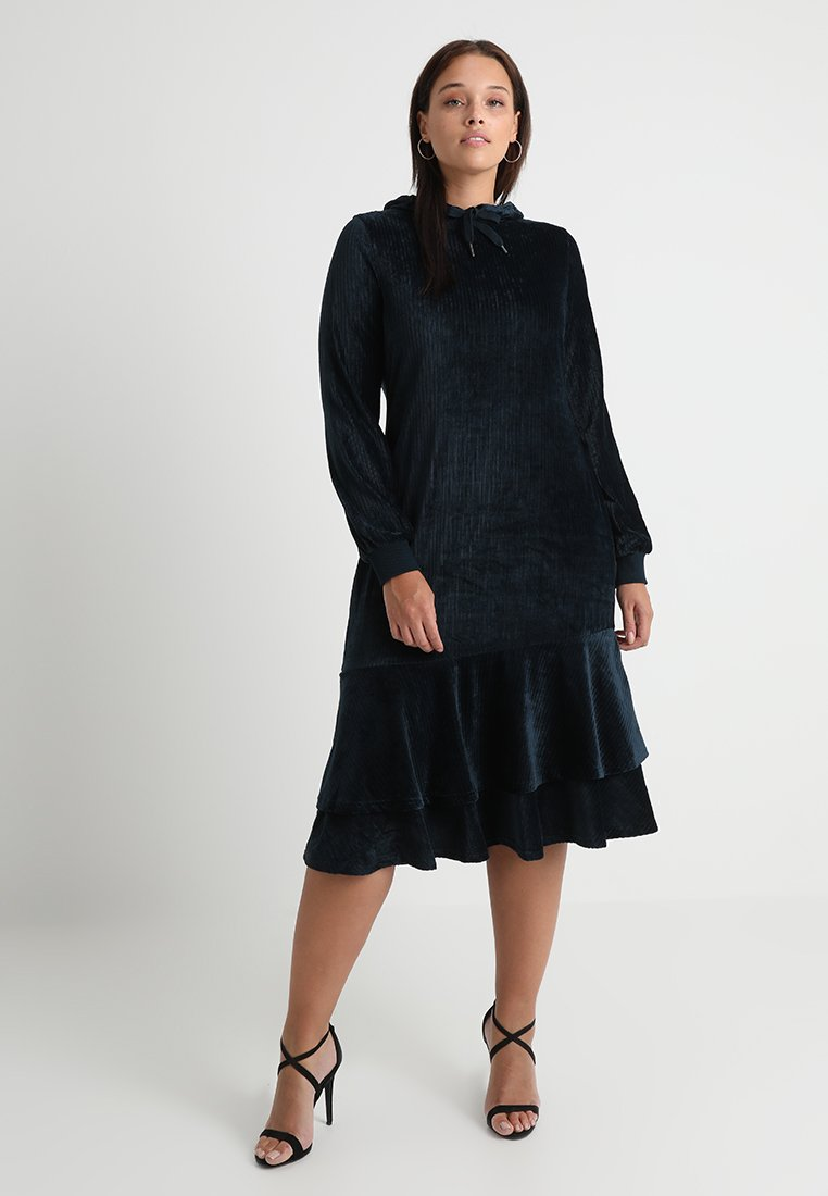 Lost Ink Plus - HOODIE DRESS - Vestido informal - navy